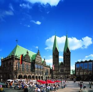 Bremer Marktplatz - Rathaus und Dom