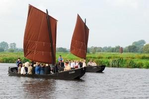 Vaartochten met een turfschip